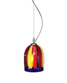 Eleganza - Multicolor Murano Handmade Glass Pendant Lamp  - Voltolina