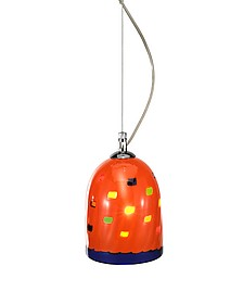Mega Rancio - Orange Murano Handmade Glass Pendant Lamp  - Voltolina