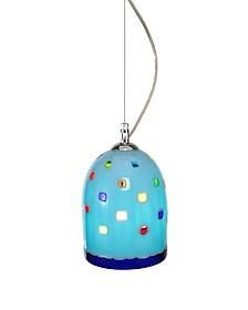 Meg - Sky Blue Murano Handmade Glass Pendant Lamp - Voltolina
