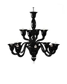 Laguna - Murano Handmade Glass 12-arm Chandelier  - Voltolina