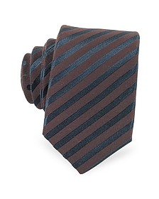 Striped Silk Narrow Tie