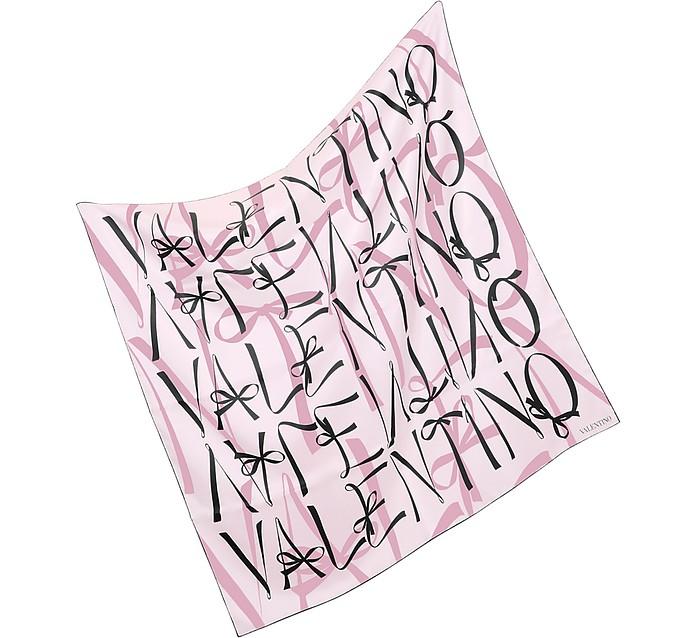 Signature Ribbons Silk Square Scarf - Valentino