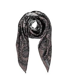 Couture Lace Twill Silk Square Scarf