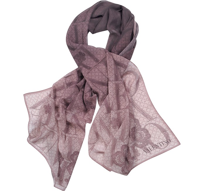 Signature Long Silk Scarf - Valentino