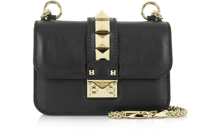 Lock Black Mini Chain Shoulder Bag - Valentino