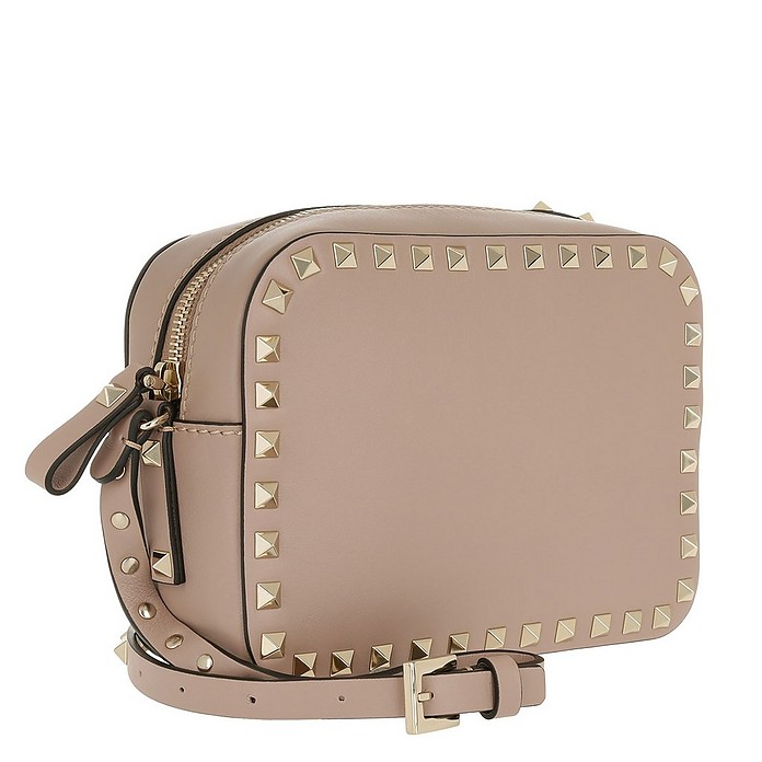 wide varieties factory outlets luxuriant in design Rockstud Camera Crossbody Bag Poudre
