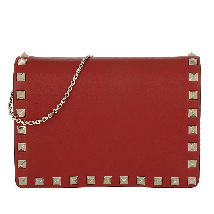 Rockstud Chain Crossbody Bag Rosso - Valentino / ヴァレンティノ