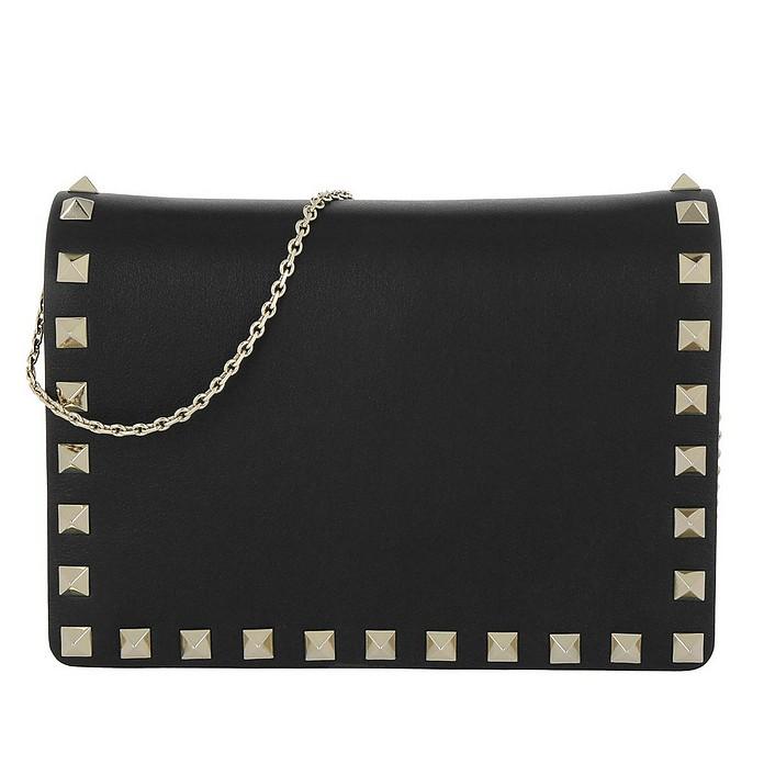 Rockstud Chain Crossbody Bag Nero - Valentino Garavani