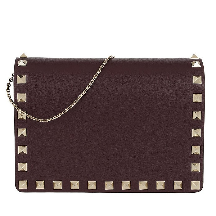 Rockstud Chain Crossbody Bag Rubin - Valentino