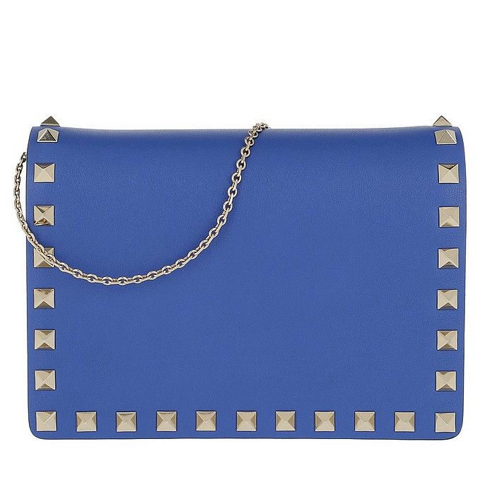 Rockstud Chain Crossbody Bag Bluette - Valentino