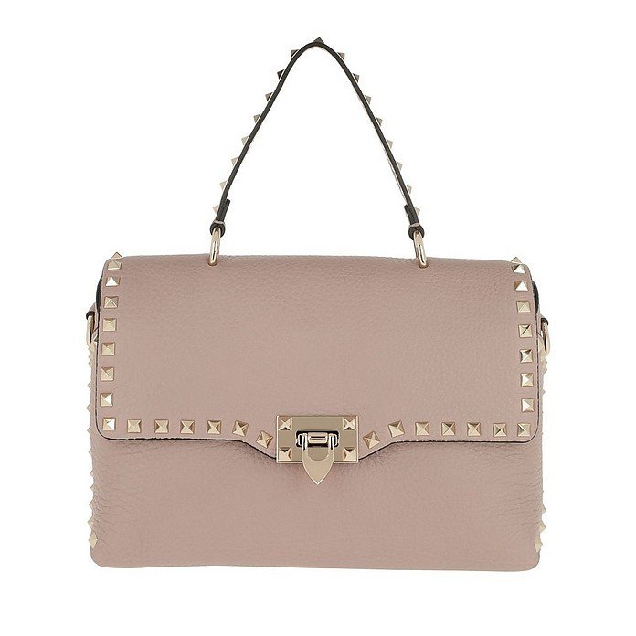 Rockstud Shopper Leather Poudre - Valentino / ヴァレンティノ