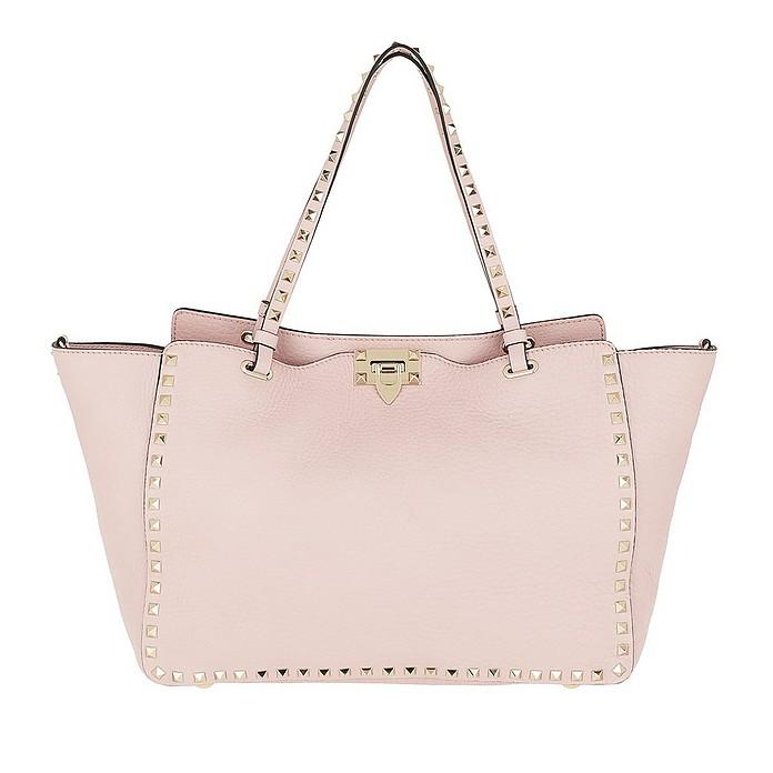 Rockstud Shopping Bag Water Rose - Valentino