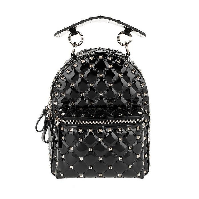 Rockstud Backpack Mini Spike Leather Black - Valentino Garavani