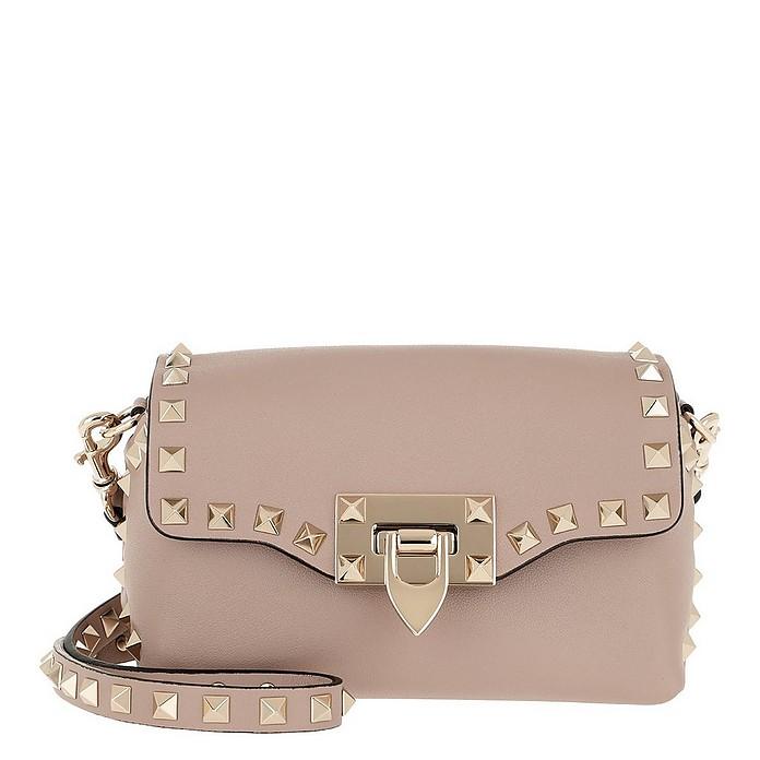 Rockstud Shoulder Bag Leather Poudre - Valentino