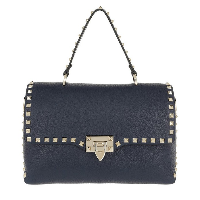 Rockstud Shopper Leather Pure Blue - Valentino / ヴァレンティノ