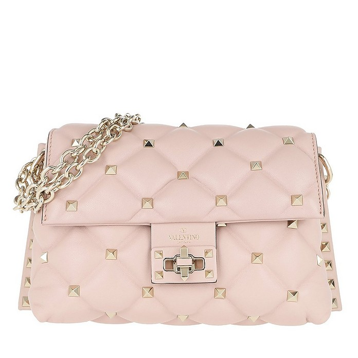 Rockstud Mini Crossbody Bag Leather Water Rose - Valentino