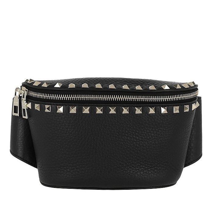 Rockstud Belt Bag Calf Leather Nero - Valentino