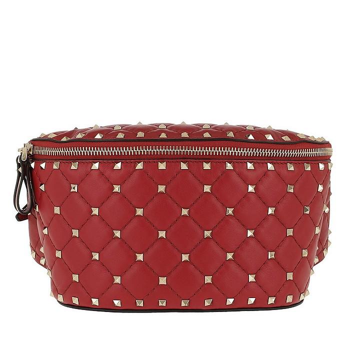 Rockstud Spike Belt Bag Rosso - Valentino