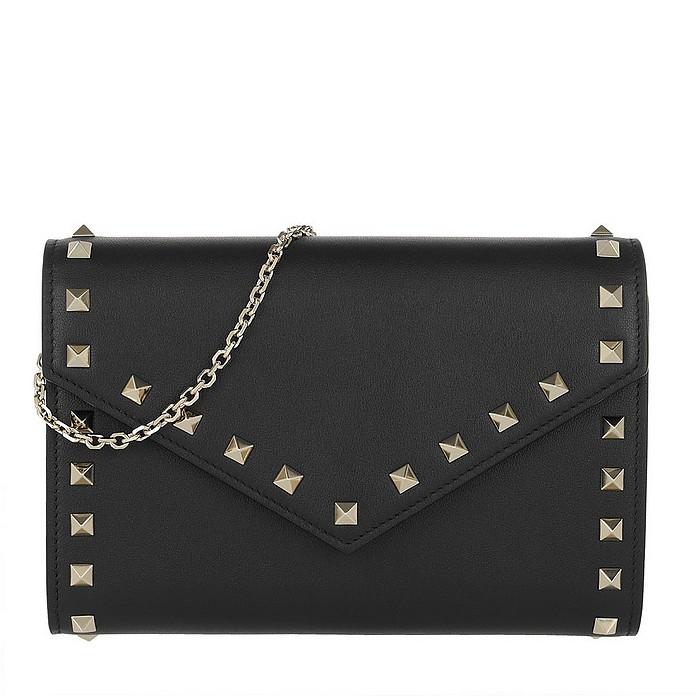 Rockstud Wallet Leather Black - Valentino