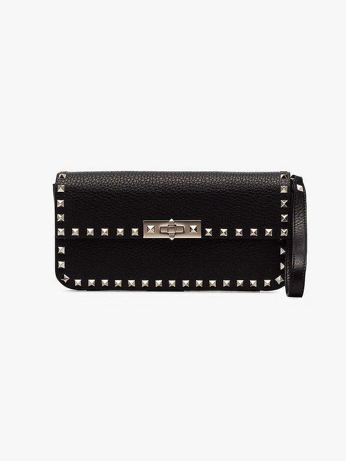 Valentino Clutch Garavani Black Rockstud Leather Clutch bag