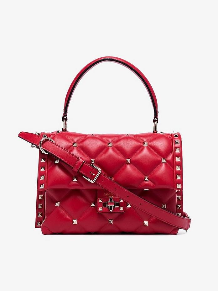 Red Candy Large Studded Leather Shoulder bag - Valentino