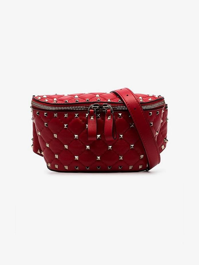 Garavani Rockstud small stud embellished leather belt bag - Valentino