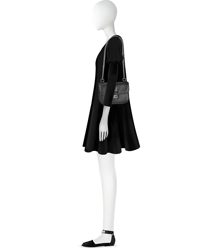 89e4f0bd94b Valentino Noir Small Chain Shoulder Bag at FORZIERI