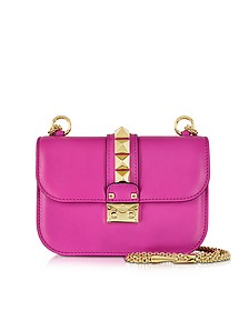 Fuxia Leather Shoulder Bag