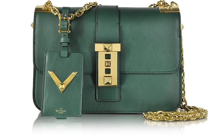 My Rockstud Smeraldo Leather Chain Shoulder Bag - Valentino