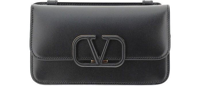 Black Leather Vsling Belt Bag - Valentino