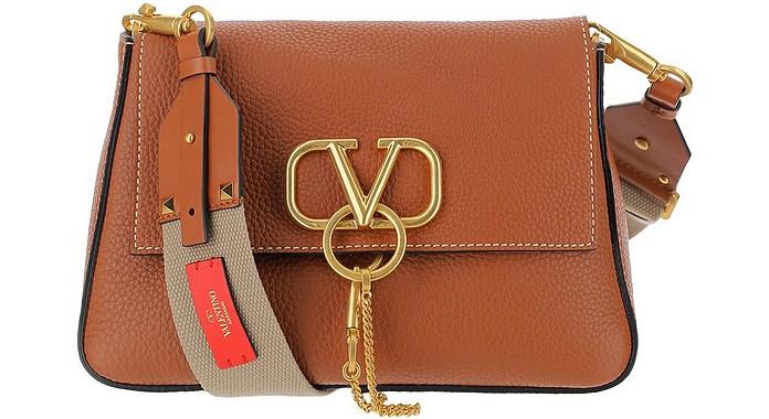 Hammered Leather Vring Shoulder Bag - Valentino Garavani