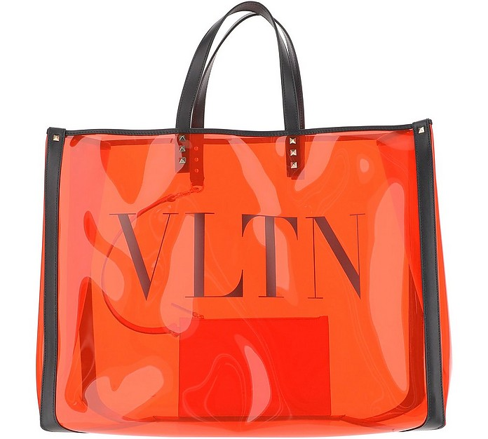 Transparent Orange PVC Multicolor bag - Valentino