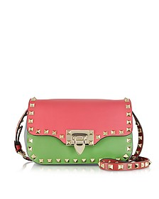 Rockstud Multicolor Leather Crossbody Bag