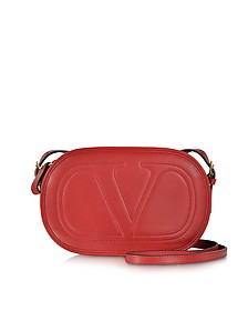 Logo-Go Deep Red Crossbody Bag