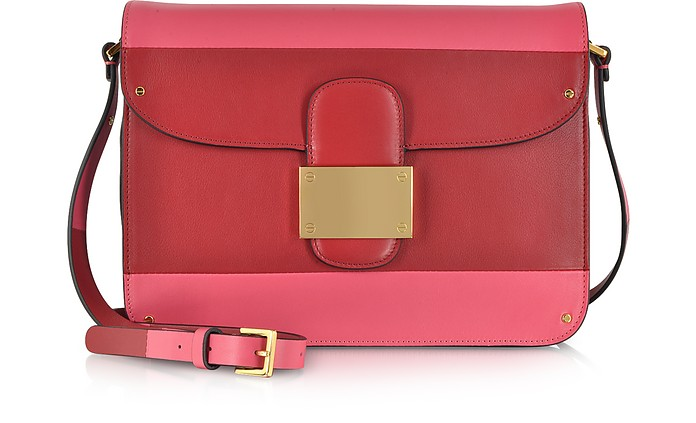 08f3434058 Valentino Rivet Deep Rose Colorblock Shoulder Bag at FORZIERI