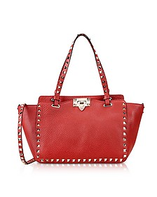 Red Valentino Rockstud Leather Small Bag - Valentino Garavani