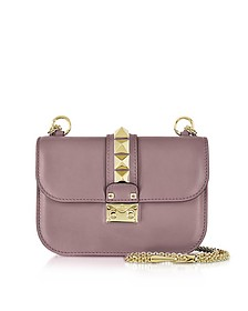 Lipstick Leather Glam Lock Shoulder Bag - Valentino