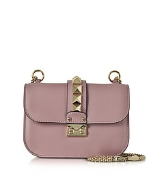 Lipstick Leather Glam Lock Shoulder Bag - Valentino