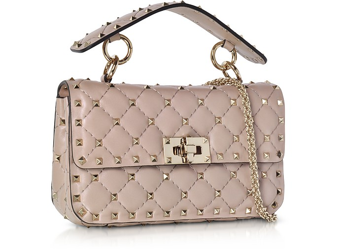 a8e4c7b54cc4 Poudre Leather Free Rockstud Spike Shoulder Bag - Valentino. Sold Out