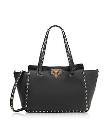 Black Rockstud Leather Small Bag - Valentino