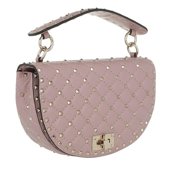 6118e0f27e9d Valentino Rockstud Half Round Spike Crossbody Bag Leather Lip at ...