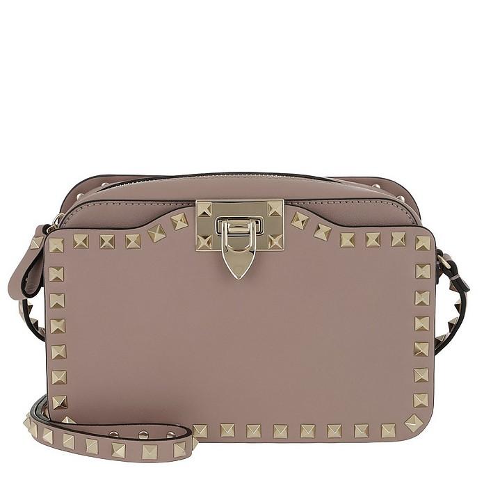08f06ab9b3d2 Valentino Rockstud Crossbody Camera Bag Leather Poudre at FORZIERI