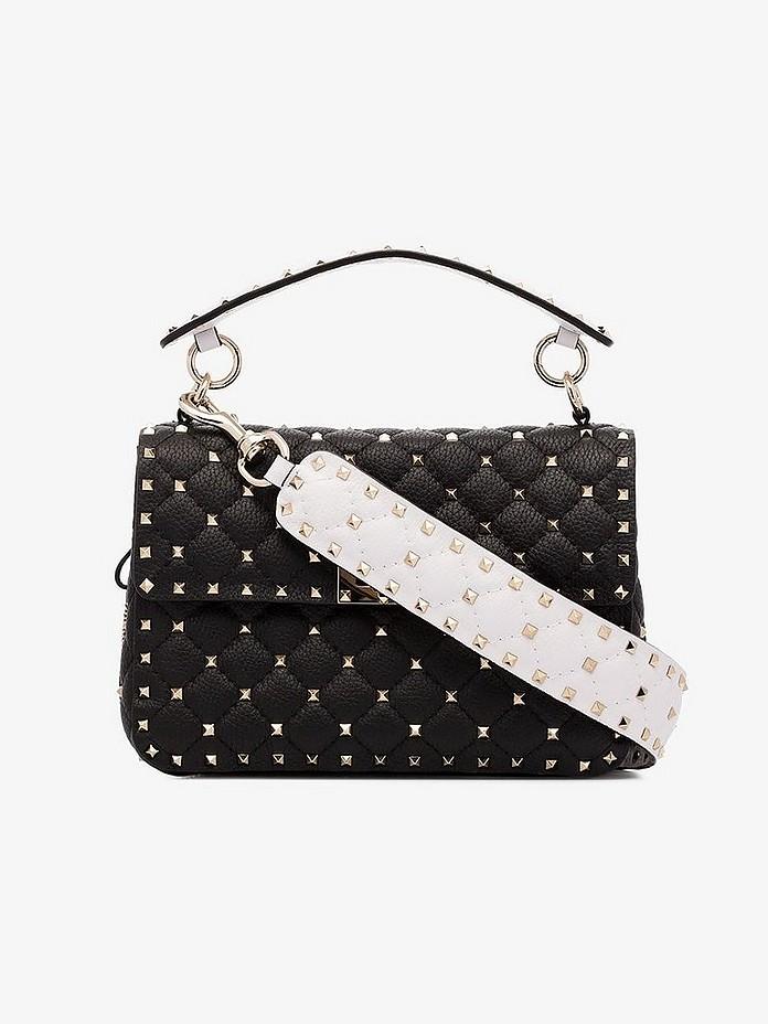 Black Garavani rockstud spike shoulder bag - Valentino