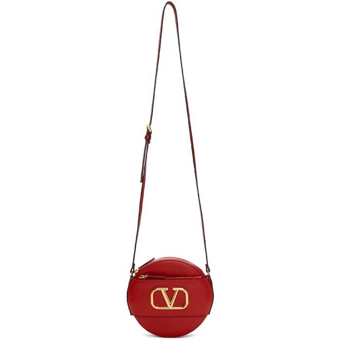 Red Valentino Garavani VLogo Round Shoulder Bag - Valentino