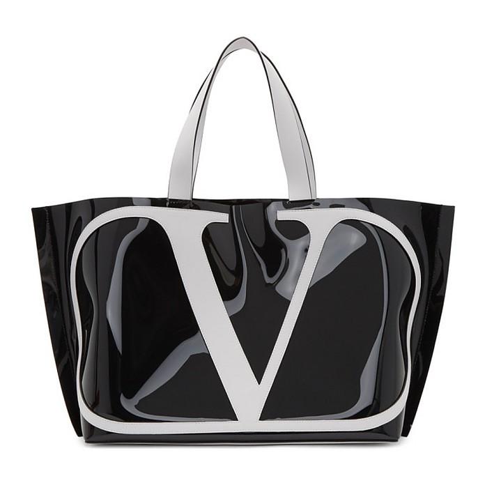 Black Valentino Garavani VLogo Tote - Valentino