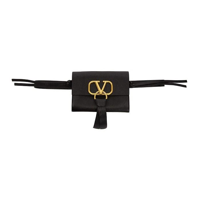 Black Valentino Garavani VRing Belt Bag - Valentino Garavani
