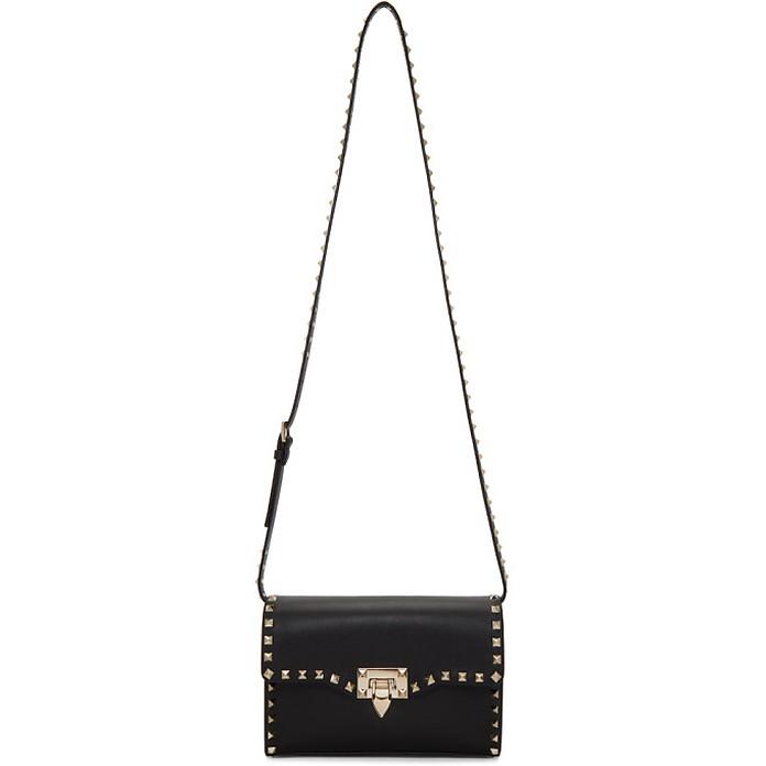 Black Valentino Garavani Medium Rockstud Flap Bag - Valentino