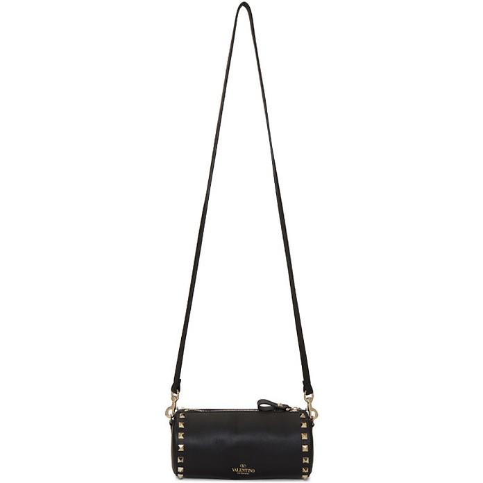 Black Valentino Garavani Rockstud Cylinder Shoulder Bag - Valentino