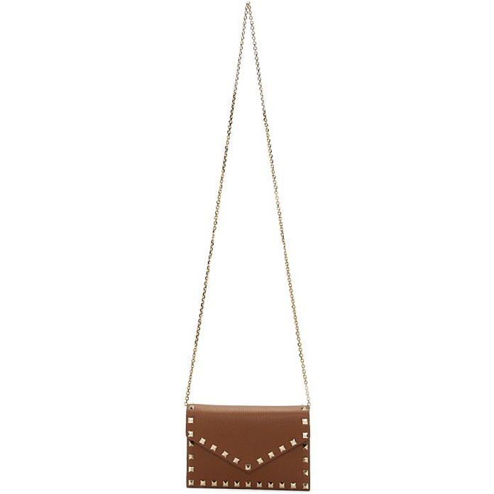 Brown Valentino Garavani Rockstud Chain Bag - Valentino