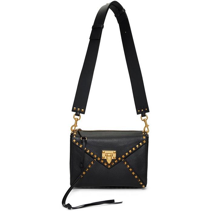 Black Valentino Garavani Medium Rockstud Hype Shoulder Bag - Valentino